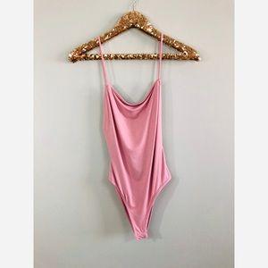 Naked Wardrobe Blush pink bodysuit
